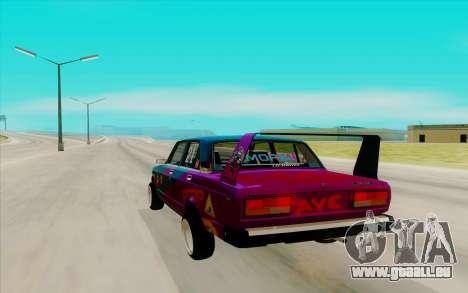2107 für GTA San Andreas zurück linke Ansicht