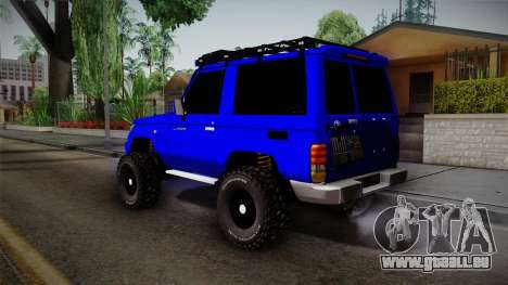 Toyota Macho 2015 Off Road für GTA San Andreas linke Ansicht
