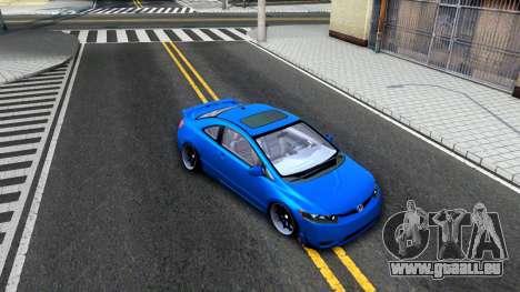 Honda Civic Si für GTA San Andreas Innenansicht