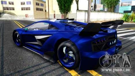 GTA V Pegassi Lampo pour GTA San Andreas sur la vue arrière gauche