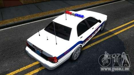 Vapid Stanier Metropolitan Police 2009 pour GTA San Andreas vue de droite