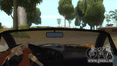 GTA V Dynka Jester Spider für GTA San Andreas Innenansicht