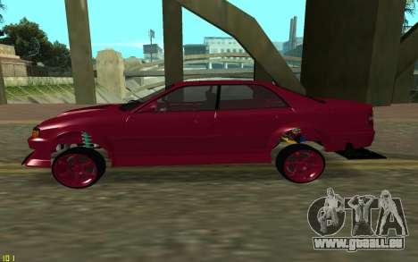 Toyota Chaser Sport pour GTA San Andreas laissé vue