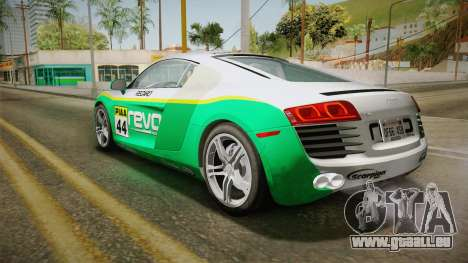 Audi R8 Coupe 4.2 FSI quattro US-Spec v1.0.0 v4 für GTA San Andreas obere Ansicht