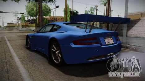 Aston Martin Racing DBRS9 GT3 2006 v1.0.6 pour GTA San Andreas sur la vue arrière gauche
