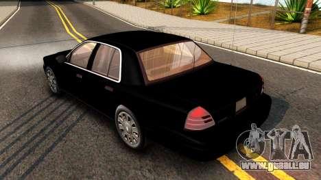 Ford Crown Victoria Detective 2008 pour GTA San Andreas vue de droite