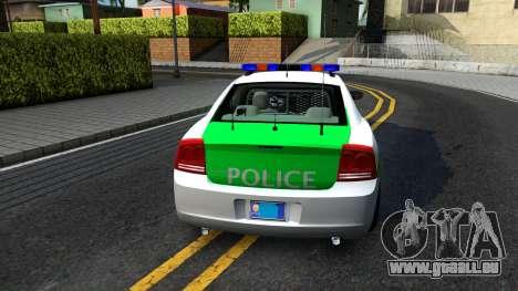 Dodge Charger German Police 2008 für GTA San Andreas zurück linke Ansicht
