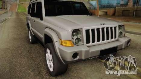 Jeep Commander 2010 für GTA San Andreas zurück linke Ansicht
