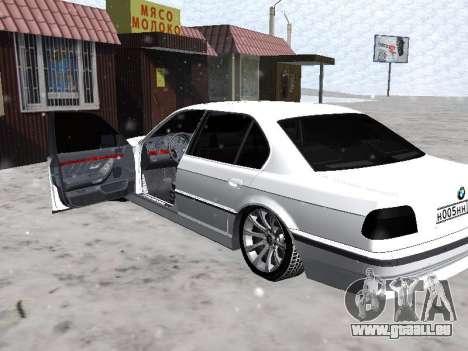 BMW 740I pour GTA San Andreas vue arrière