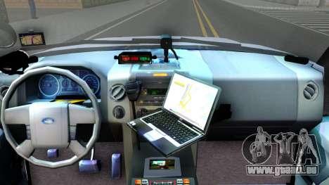Ford Expedition SAST CVE 2008 pour GTA San Andreas vue intérieure