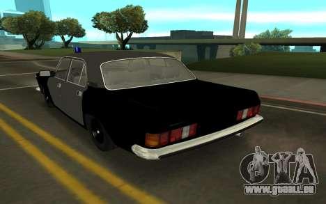 GAZ 24-10 Shérif pour GTA San Andreas sur la vue arrière gauche