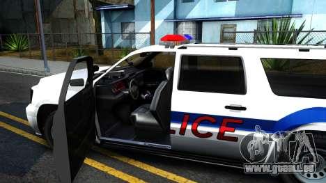 Declasse Granger Metropolitan Police 2012 pour GTA San Andreas vue intérieure