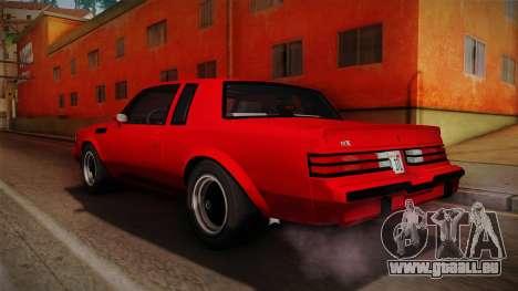 Buick GNX 1987 pour GTA San Andreas laissé vue