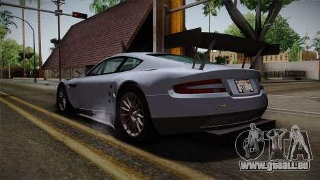 Aston Martin Racing DBR9 2005 v2.0.1 für GTA San Andreas zurück linke Ansicht