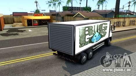 DFT-30 Box Truck pour GTA San Andreas sur la vue arrière gauche