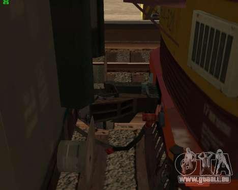 Passenger locomotive CHS4t-521 pour GTA San Andreas vue de dessous