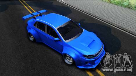 Subaru WRX STi Widebody pour GTA San Andreas vue de droite