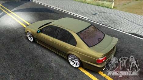 BMW 530D E39 pour GTA San Andreas vue arrière