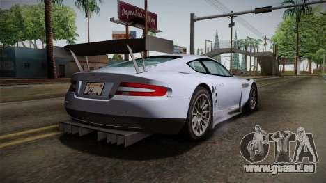 Aston Martin Racing DBR9 2005 v2.0.1 pour GTA San Andreas laissé vue