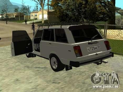 Les VASES 2104 Krasnoyarsk pour GTA San Andreas sur la vue arrière gauche