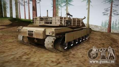 Abrams Tank pour GTA San Andreas sur la vue arrière gauche