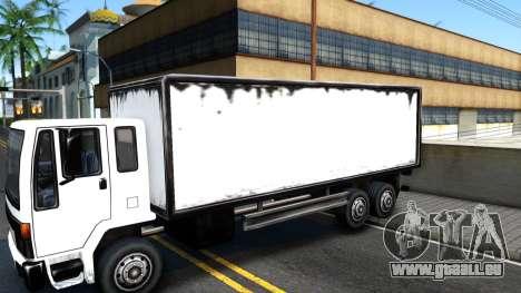 DFT-30 Box Truck pour GTA San Andreas vue arrière