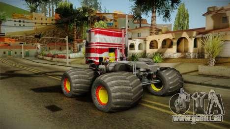 Peterbilt Monster Truck für GTA San Andreas rechten Ansicht