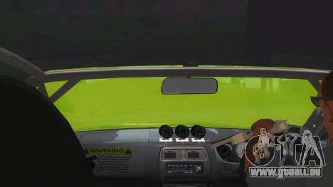 Azuki Azusa Itasha Nissan Silvia Vinyl pour GTA San Andreas vue intérieure