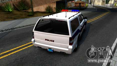 Declasse Granger Metropolitan Police 2012 pour GTA San Andreas sur la vue arrière gauche