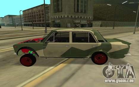 VAZ 2103 BATAILLE CLASSIQUE pour GTA San Andreas sur la vue arrière gauche