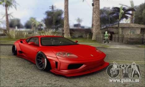 Ferrari 360 LB Work für GTA San Andreas Rückansicht