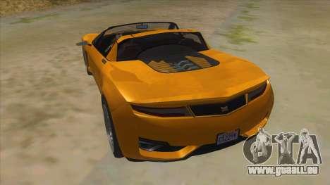 GTA V Dynka Jester Spider für GTA San Andreas zurück linke Ansicht
