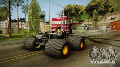 Peterbilt Monster Truck pour GTA San Andreas laissé vue