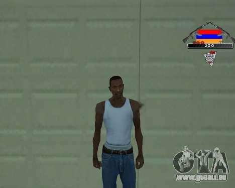 C-HUD Armenian V-1.0 pour GTA San Andreas deuxième écran
