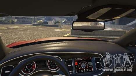 GTA 5 Dodge Charger Hellcat arrière droit vue de côté