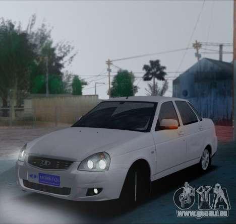 VAZ 2170 Priorik pour GTA San Andreas laissé vue
