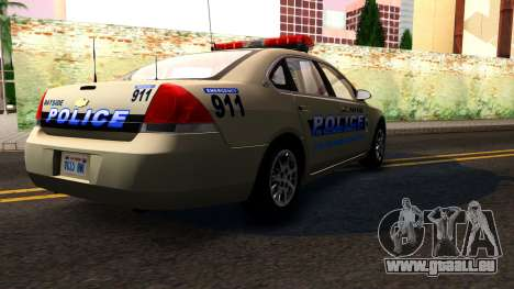 2007 Chevy Impala Bayside Police pour GTA San Andreas vue intérieure