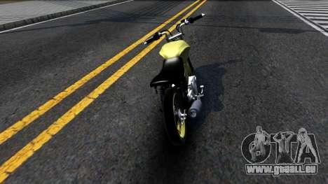 Honda Titan 150 Stunt pour GTA San Andreas sur la vue arrière gauche