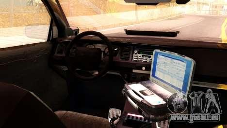 Ford Crown Victoria Detective 2008 pour GTA San Andreas vue arrière