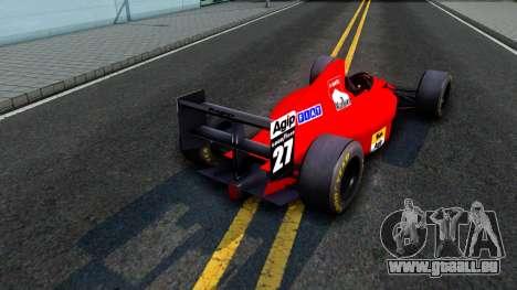 Ferrari 640 F1 1989 pour GTA San Andreas vue de droite