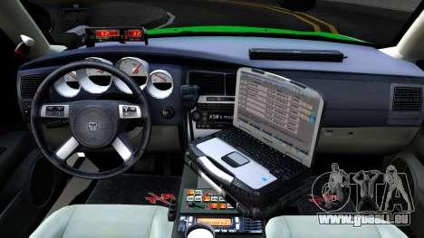 Dodge Charger German Police 2008 pour GTA San Andreas vue intérieure