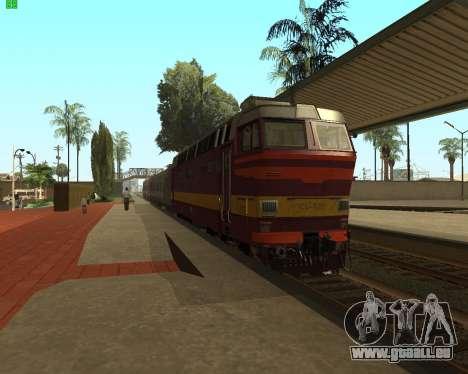 Passenger locomotive CHS4t-521 pour GTA San Andreas sur la vue arrière gauche