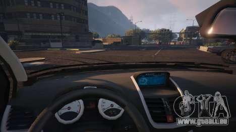 GTA 5 Peugeot 207 rechte Seitenansicht