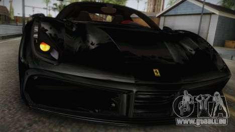Ferrari 488 GTB pour GTA San Andreas sur la vue arrière gauche