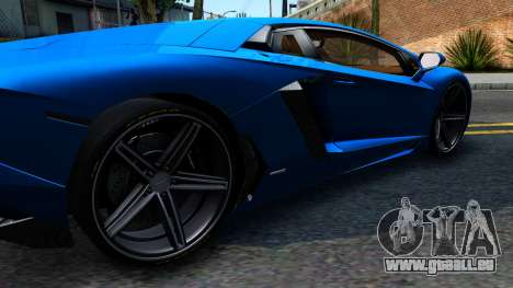 Lamborghini Aventador LP700-4 Light Tune für GTA San Andreas linke Ansicht