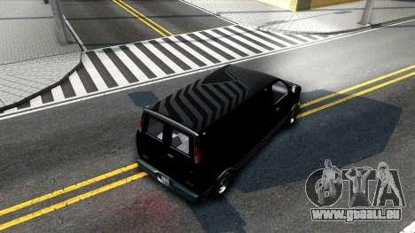 GTA V Declasse Burrito für GTA San Andreas Innenansicht