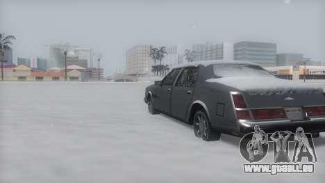 Washington Winter IVF für GTA San Andreas zurück linke Ansicht