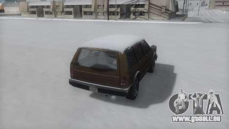 Landstalker Winter IVF pour GTA San Andreas laissé vue