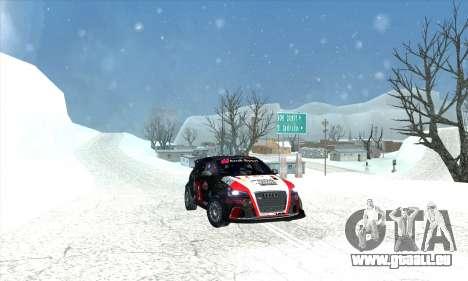 Audi RS3 Sportback Rally WRC pour GTA San Andreas moteur