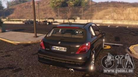 GTA 5 Peugeot 207 hinten links Seitenansicht